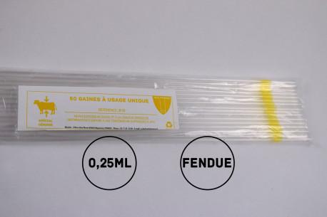 Gaines mini (génisses) - 0.25mL - FENDUES