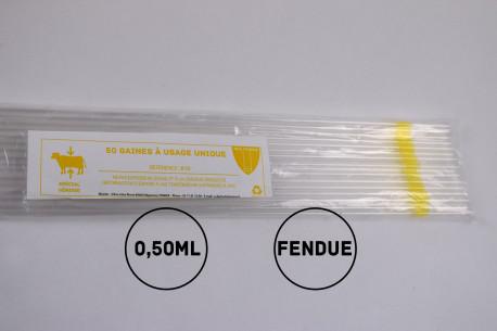 Gaines mini (génisses) - 0.5mL - FENDUES